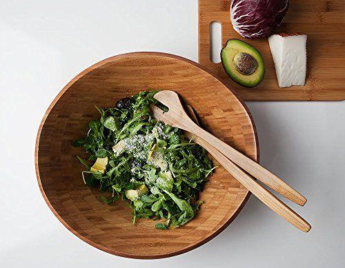 schöne Salat Set große Salatschüssel + Salatbesteck, Sala…