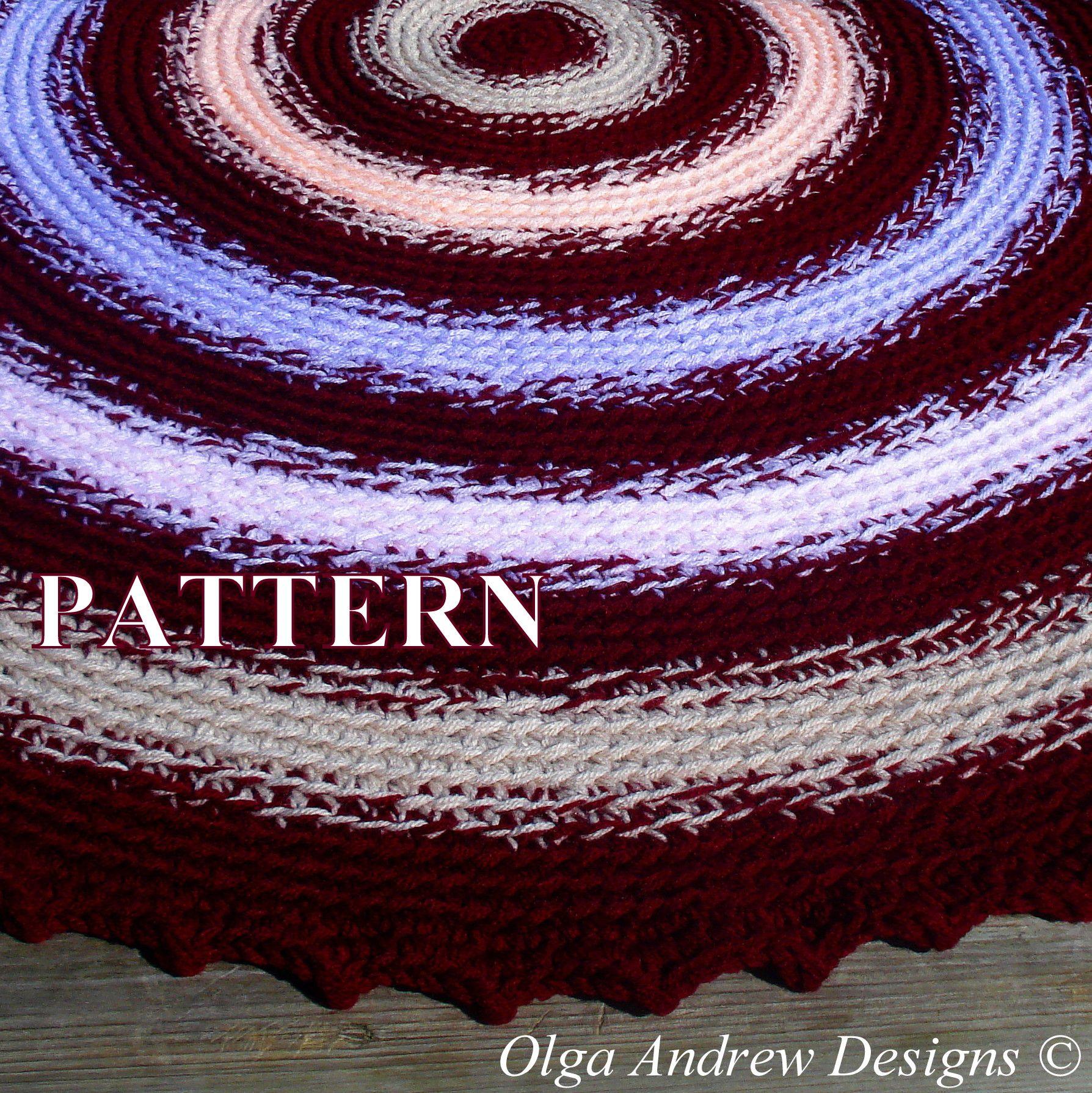 Round blanket burgundy easy crochet tutorial pattern instant round blanket burgundy easy crochet tutorial pattern instant download pdf bankloansurffo Images