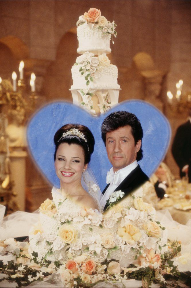 Fran Drescher And Charles Shaughnessy In The Nanny 1993