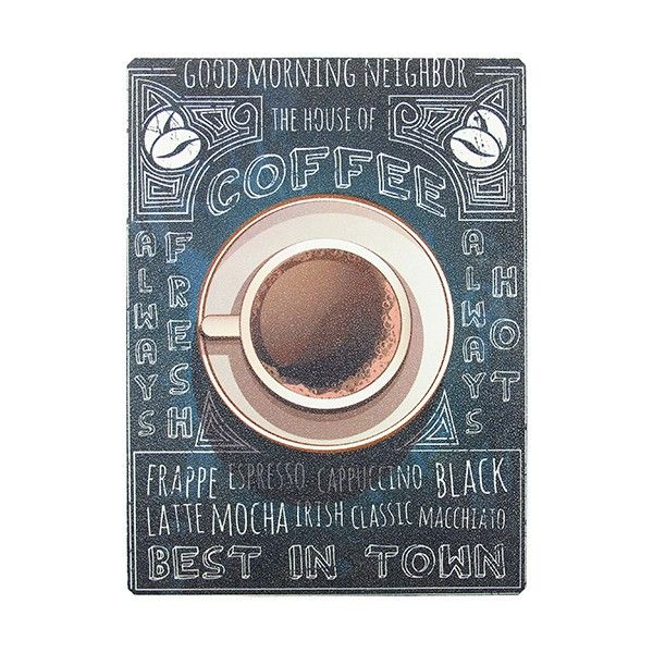 Placa de Madeira Coffee