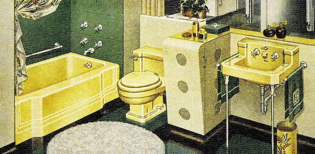 Green Yellow Bathroom Vintage Bathrooms Yellow Bathrooms Retro Bathrooms