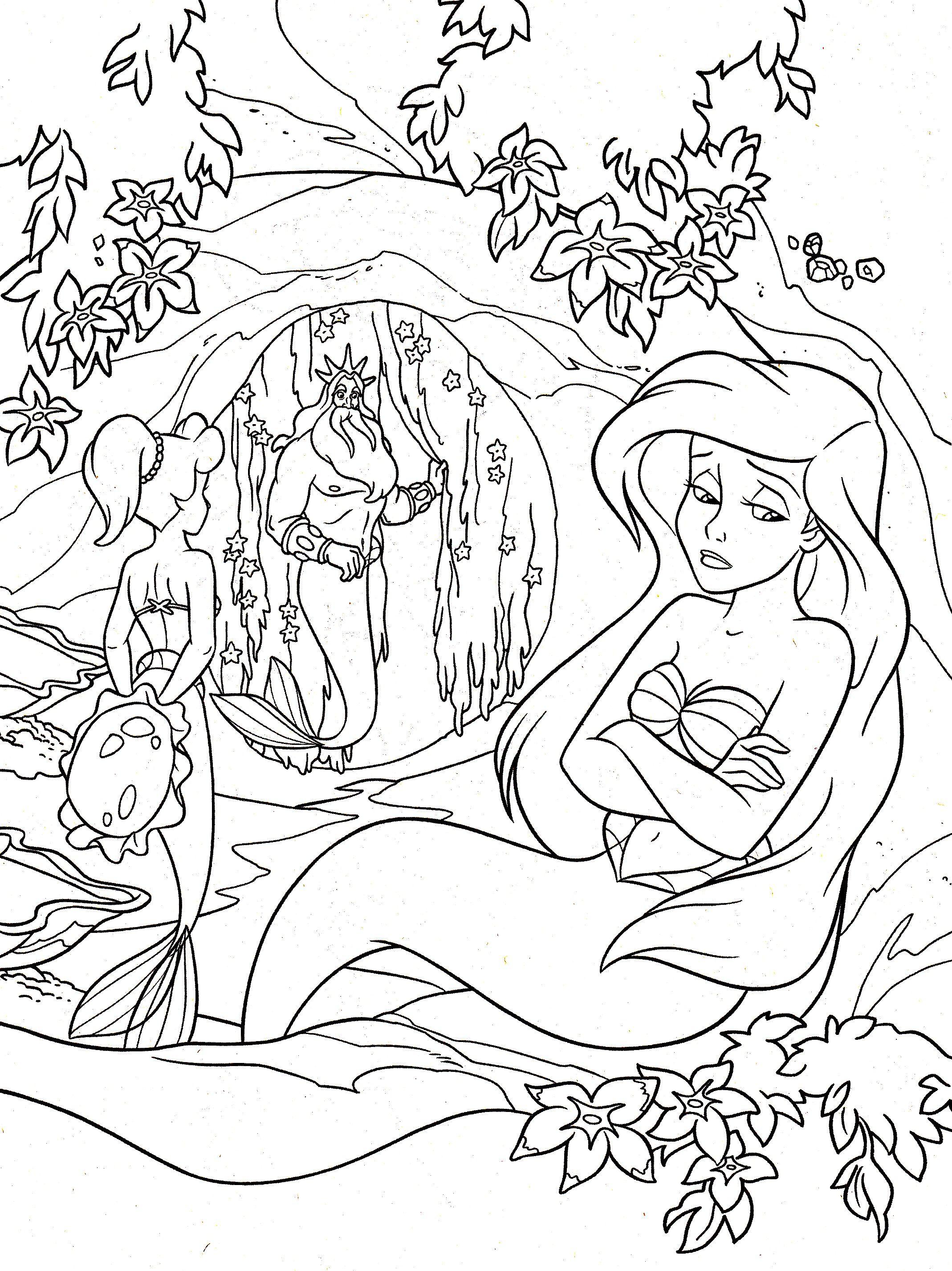 Galerie de coloriages gratuits coloriage-ariel-la-petite-sirene ...