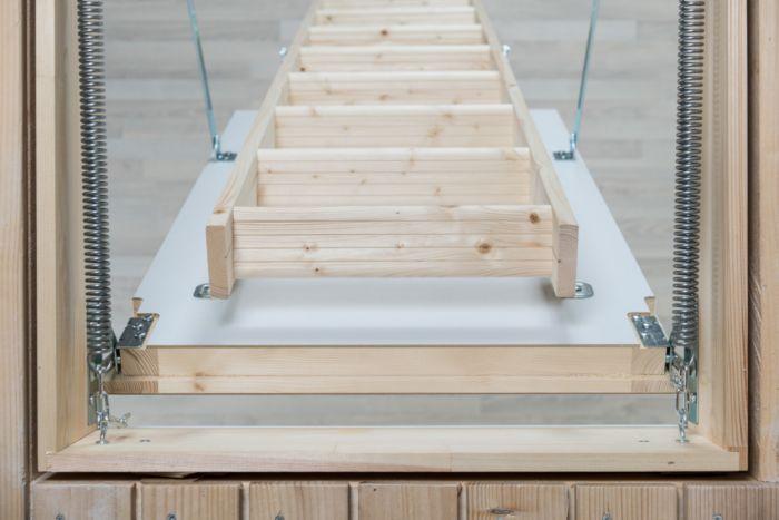 Best Dolle Extra Timber Folding Loft Ladder 1400 X 700Mm Loft Flooring Ladder Ceiling Height 400 x 300
