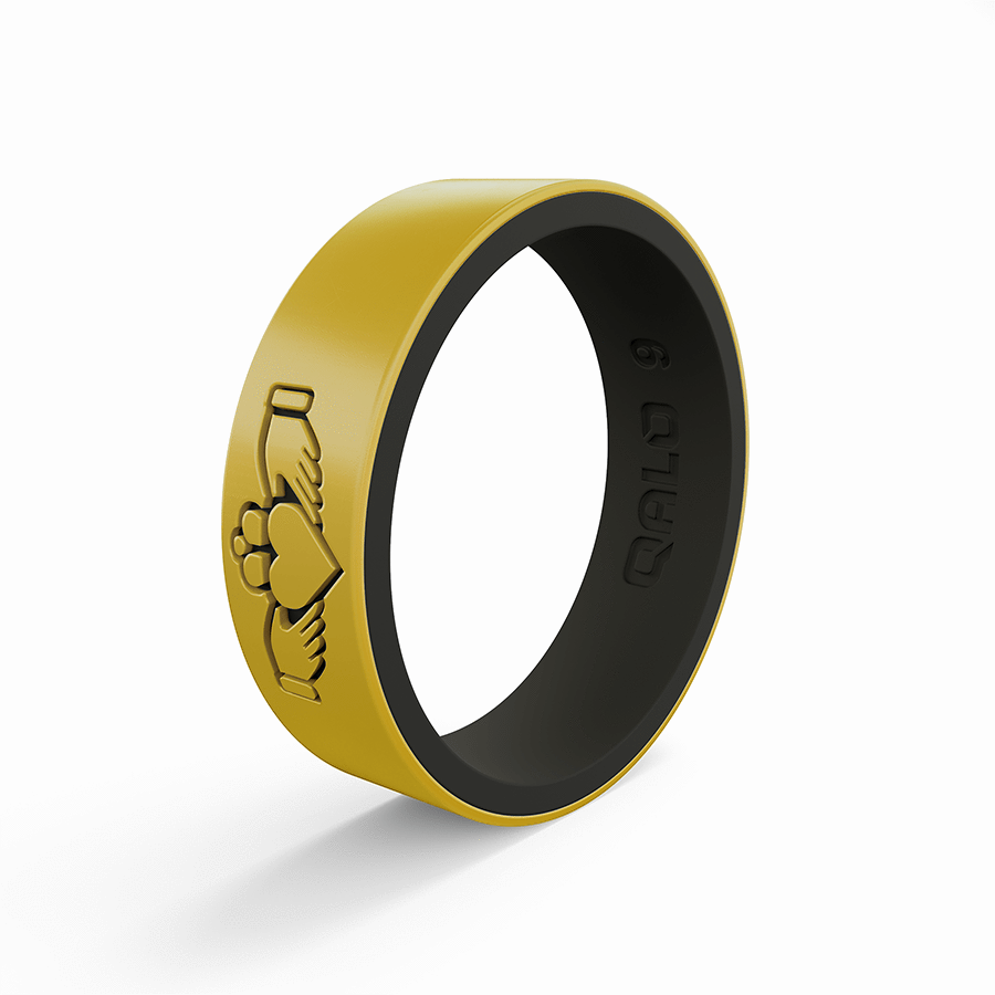 Women's Claddagh Metallic Strata Silicone Ring in 2020