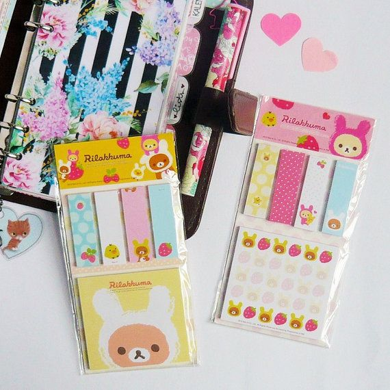 Rilakkuma Sticky Notes by PrettyandColourful on Etsy
