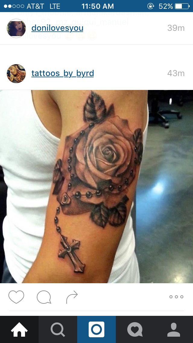 Pin By Dedrea Baynham On Tattoo In 2020 Rosary Tattoo Rose Tattoos Finger Tattoos