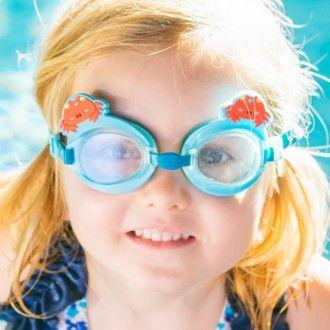 port/átil neopreno funda suave Funda para gafas de sol con dise/ño de peces coloridos con mosquet/ón ultraligera con cremallera