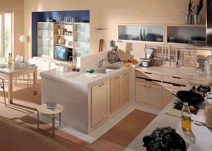 50 Foto di Cucine in Muratura Moderne | Cucina in muratura ...