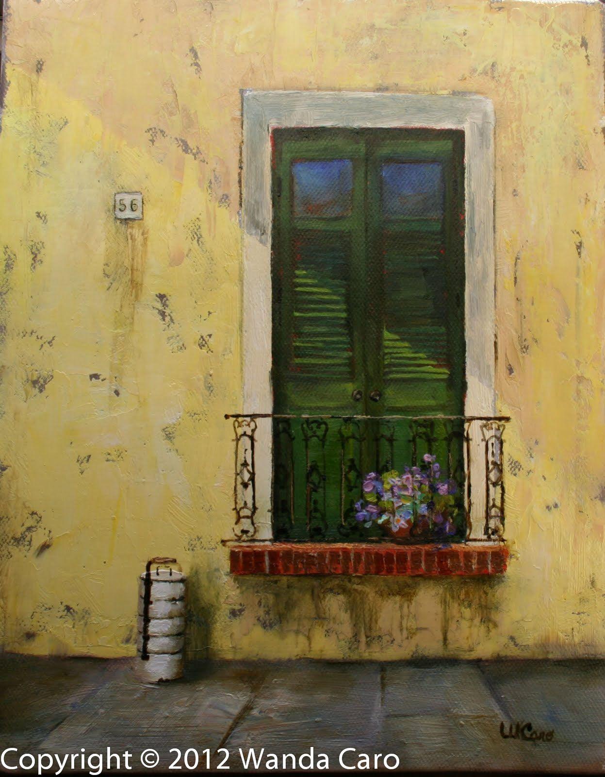 Colonial Facade Old San Juan, Puerto Rico- original oil painting ...