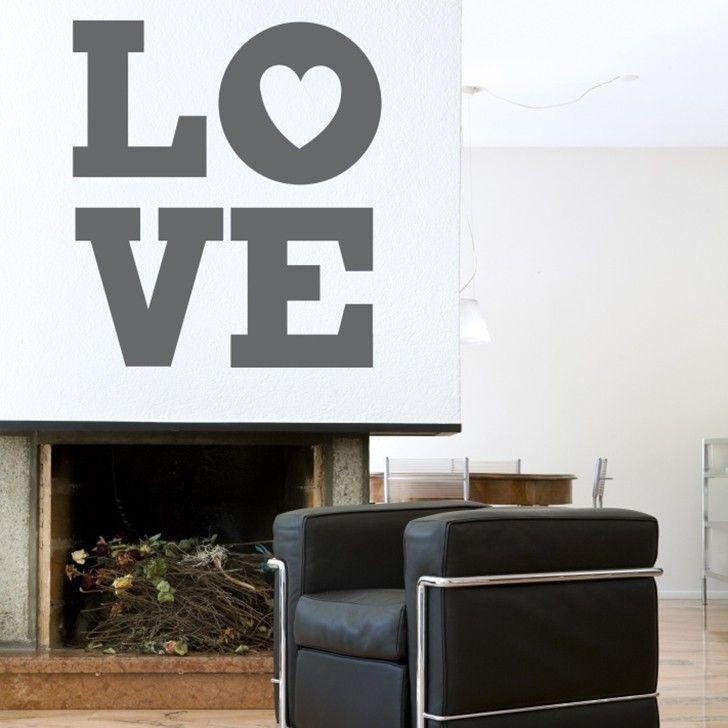 Mywalltattoos love vinyl sticker in grey homeware 5rooms com · custom vinylvinyl artstickermonochromewall