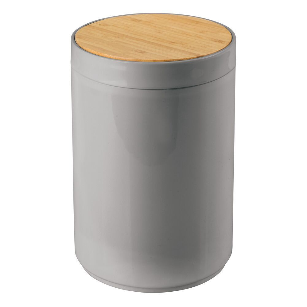 Small Plastic Trash Can Garbage Bin With Swing Lid In Light Pink