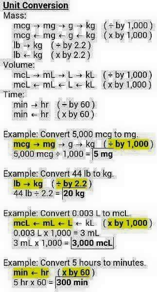 Dosage Calculations                                                                                                                                                     More #nursingstudents