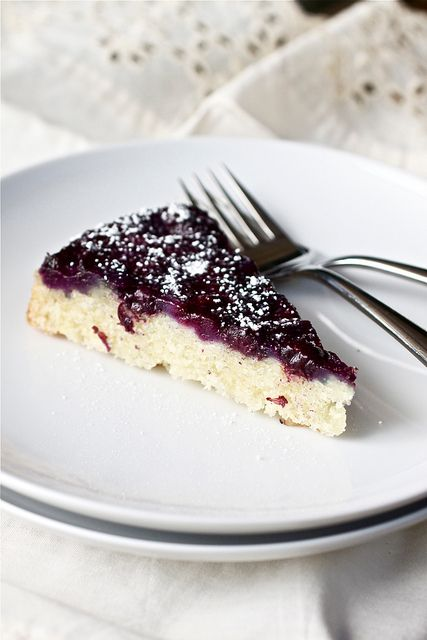 Blueberry Buttermilk Upside-Down Cake by Smells Like Home, via Flickr
