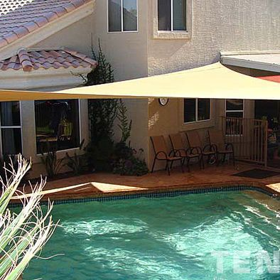 Shading Pool Design Ideas Pictures Remodel And Decor Pool Shade Shade Sail Swimming Pool Designs