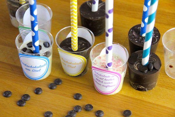 Trinkschokolade Am Stiel Selber Machen Inkl Gratis Etiketten