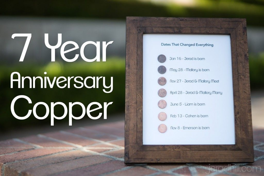Seven Year Anniversary Quotes: 7 Year Anniversary Present Copper Project