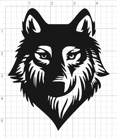 Wolf Face Design SVG Pdf Eps Dxf Studio 3 Cut Files Stenckl Wolf Face Face Design Vinyl