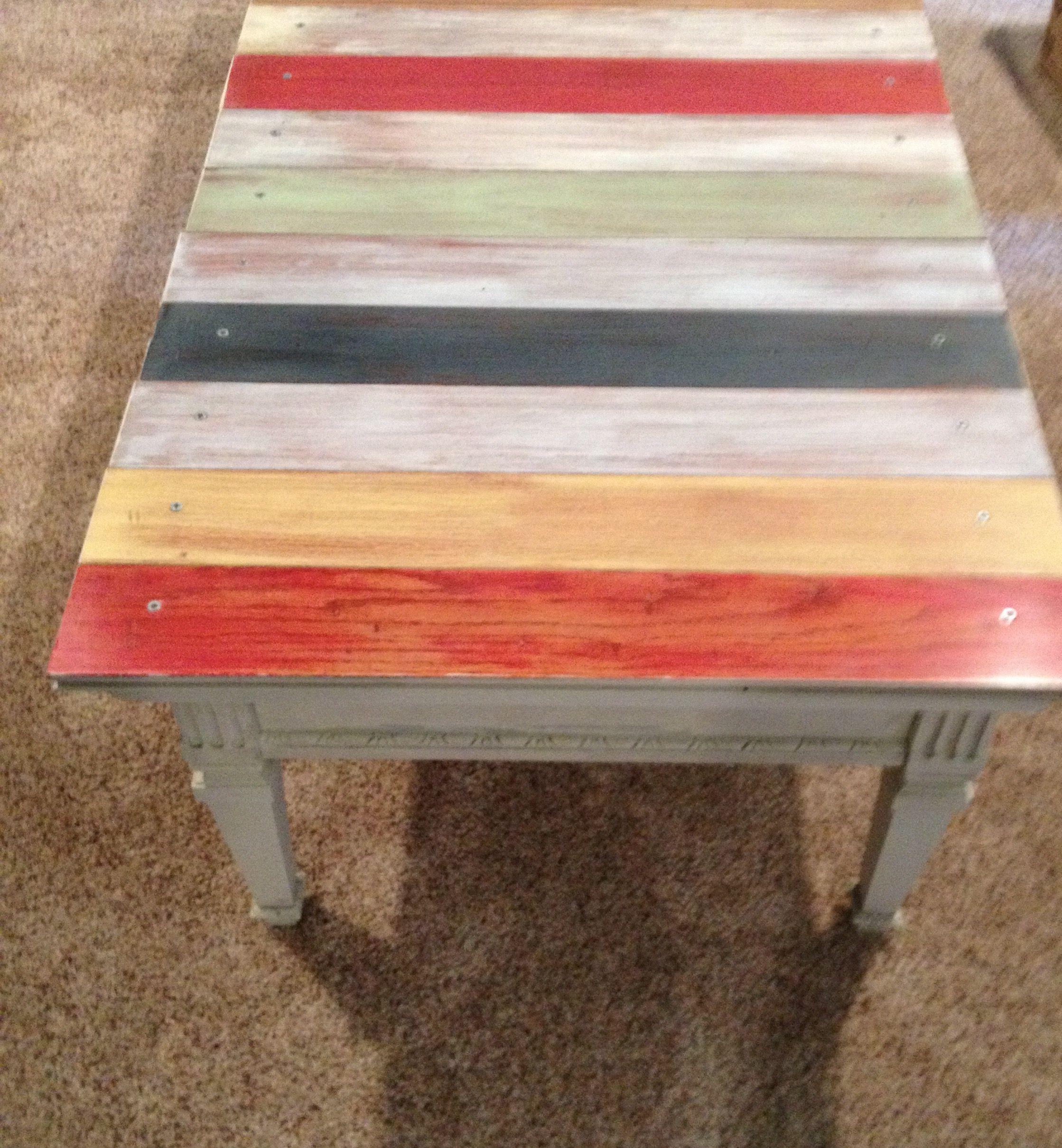 repurposed coffee table using leftover hardwood flooring! | my own