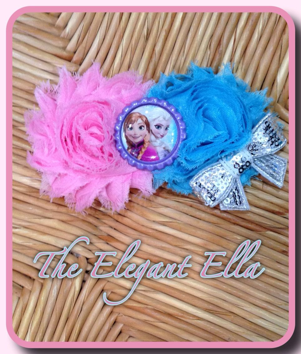 FROZEN Anna and Elsa  double shabby headband or by TheElegantElla, $9.50