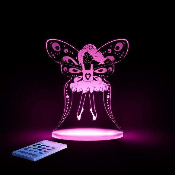 Den populære Aloka natlampe er en moderne LED lampe med fjernbetjening. Lysstyrken kan tilpasses, timer kan sættes til og lampen kan lyse i 12 forskelli...