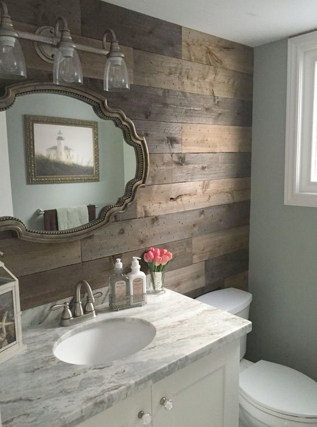 Rustic Master Bathroom, Wood