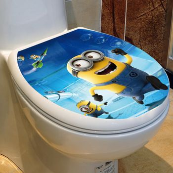 New Design Despicable Me 2 Minion Movie Decal Removable Toilet Sticker Home  Decor Art Toilet Sticker. New Design Despicable Me 2 Minion Movie Decal Removable Toilet