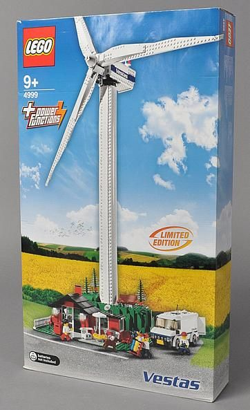 A wind turbine in Lego! This is awesome  I LOVE wind