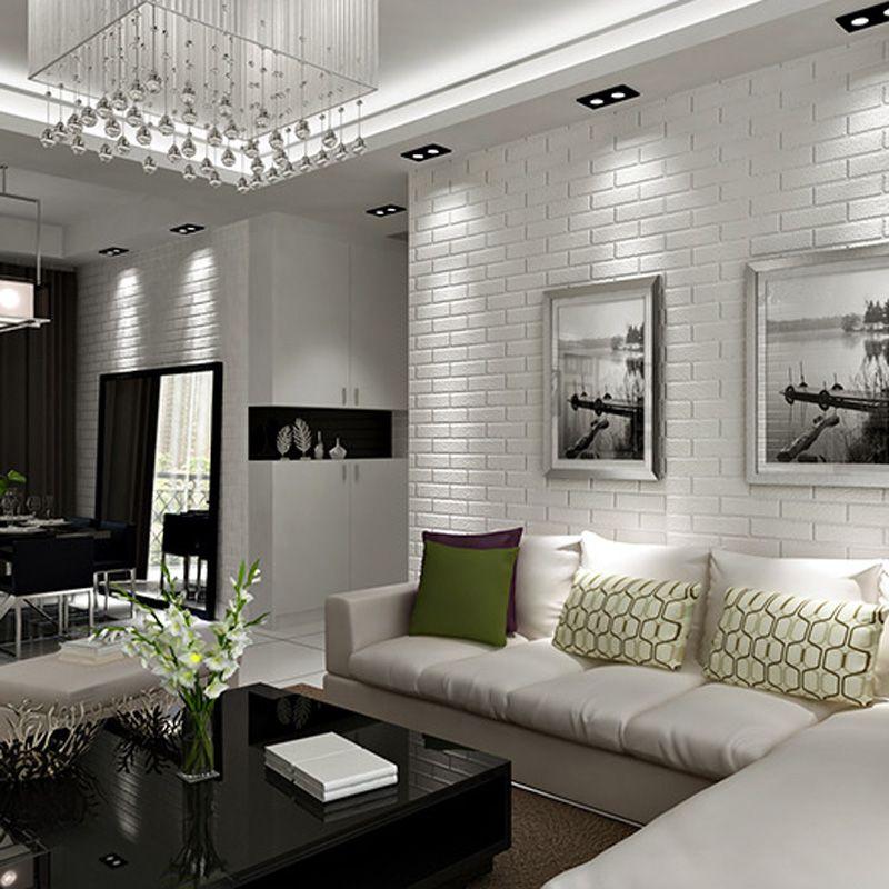 White Brick Living Room Living Room Inspiration