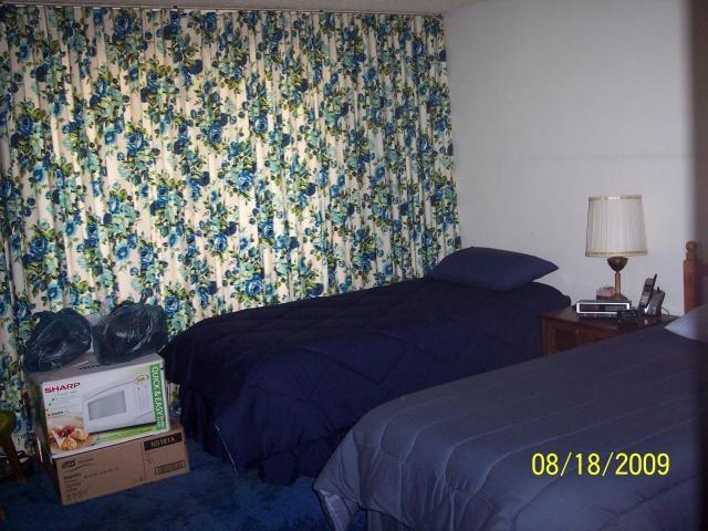 1970s Flowery Blue Drapes Curtains Master Bedroom Glendale Arizona Home House I Like The Plain