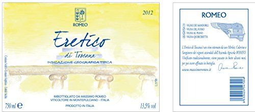 """2012 Massimo Romeo Estates """"Eretico"""" IGT Rosso di Toscana 750 ml -- You can find more details by visiting the image link."""