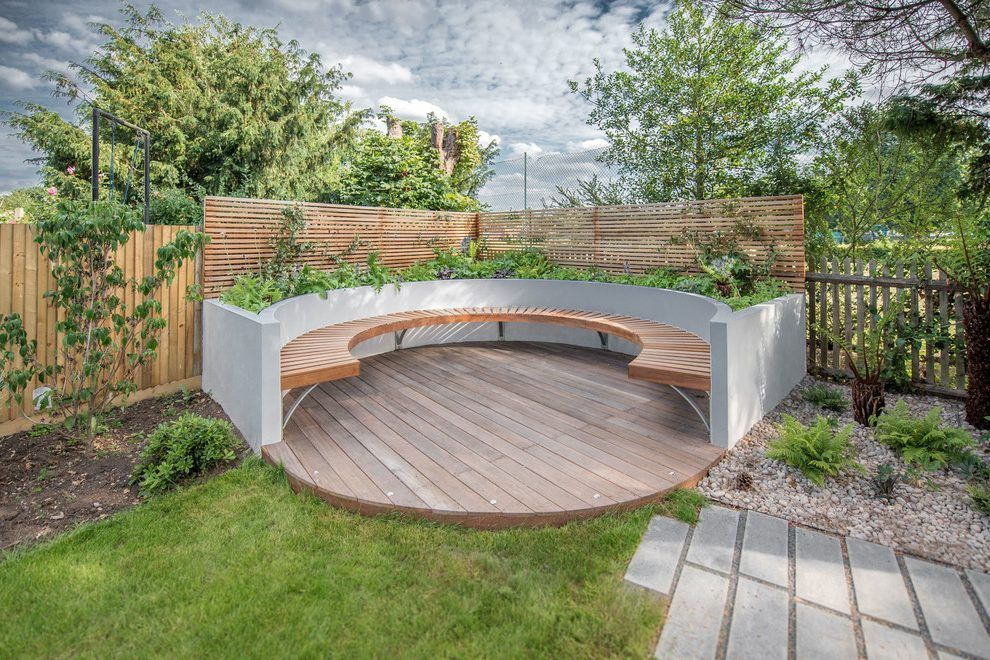 Image Result For Circular Seating Area Back Garden Design Garden Seating Garden Design