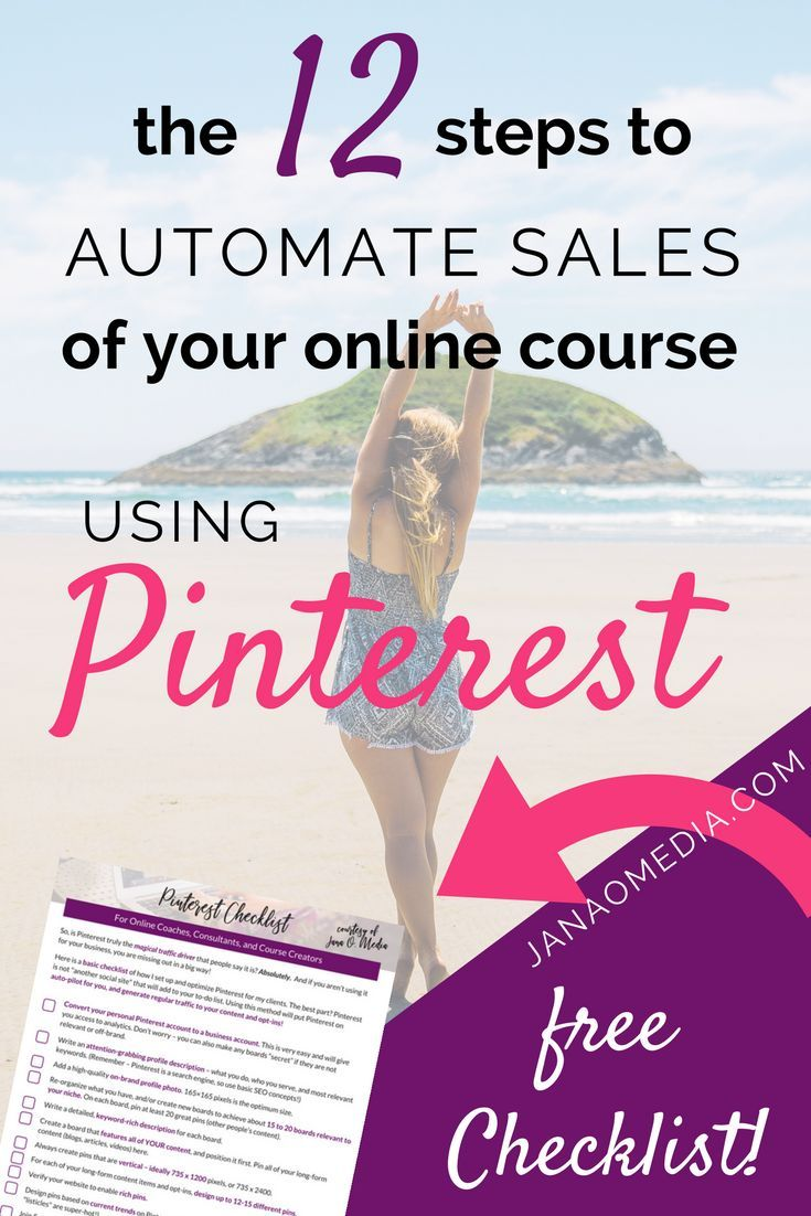 Free Pinterest Checklist for Online Coaches, Course