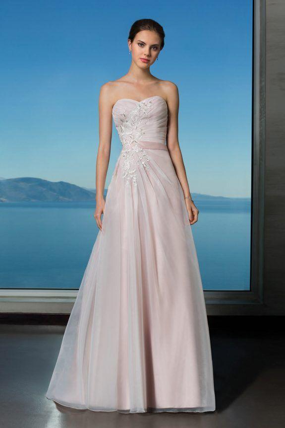 Oreasposa - Wedding Dress - L893 Asymmetrical ruching and floral ...