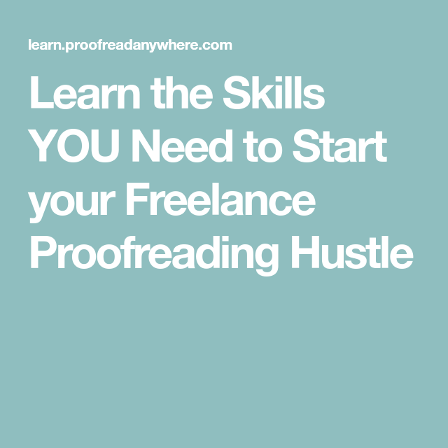 Learn The Skills YOU Need To Start Your Freelance