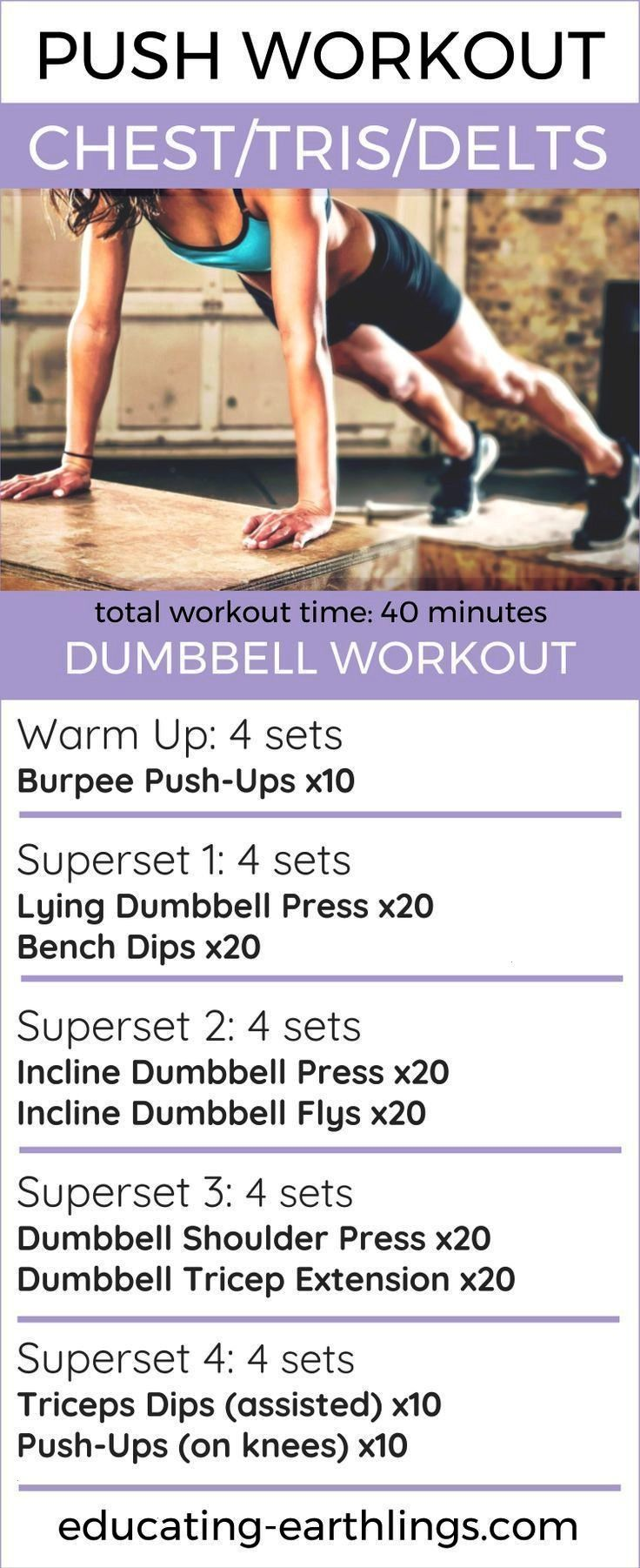 #pushpullleg #women39s #workout #fitness #healthy #womens #split #chest #women #push #lPush Workout:...