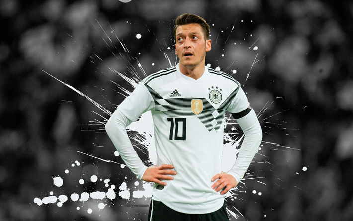 Download Wallpapers Mesut Ozil 4k Football Stars Grunge