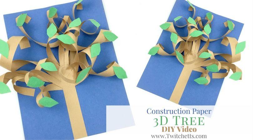 Construction Paper 3d Tree Video Preschool Activities School