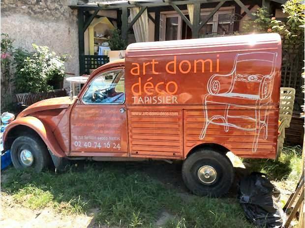 2cv camionnette orange