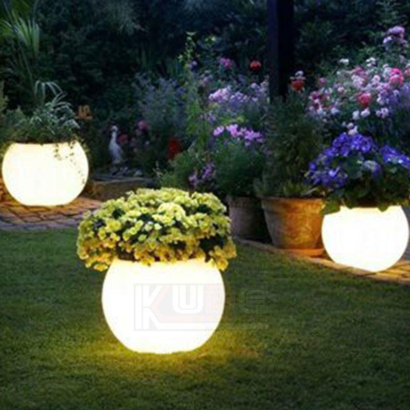 Light Pots Garden Pots Illuminated Planter Glow At Night China Pot Lights Illuminated Plante Solar Lights Garden Garden Lighting Diy Outdoor Garden Lighting
