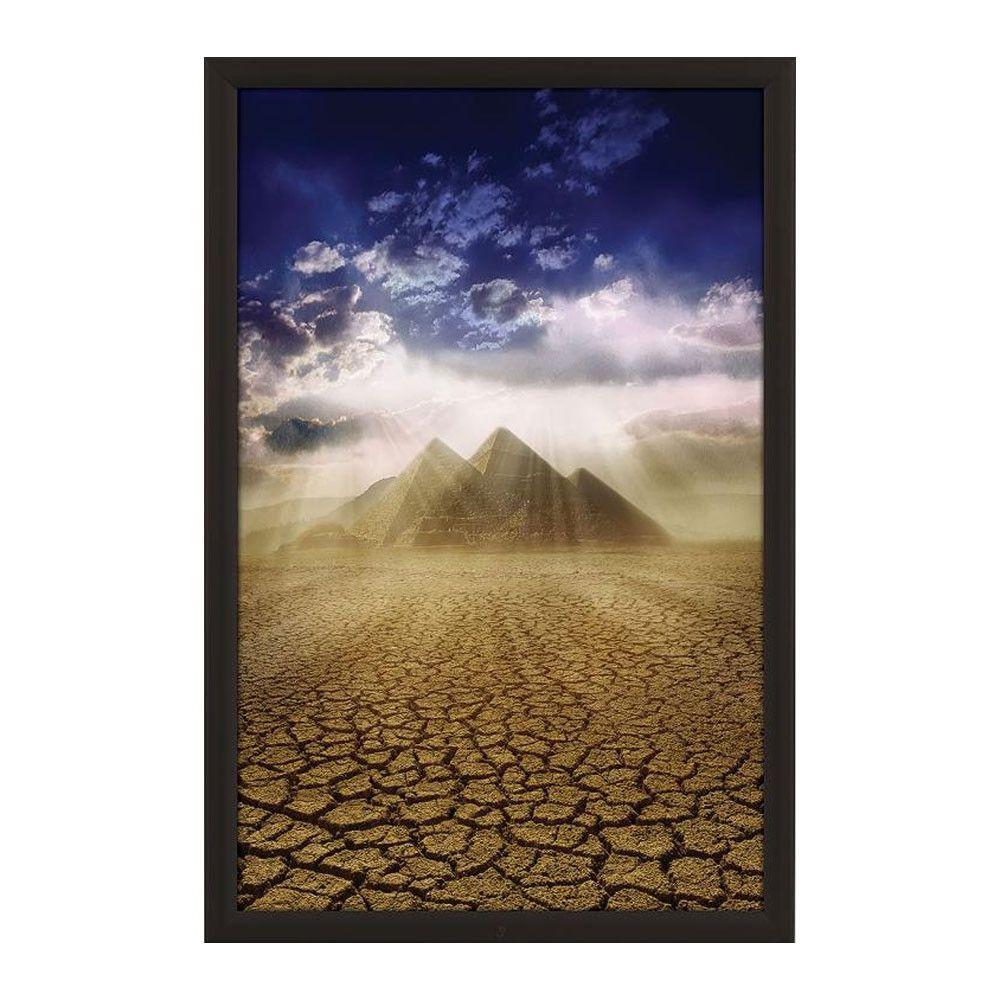 Lockable Weatherproof Frame 24x36 Poster Size Black Color Profile ...