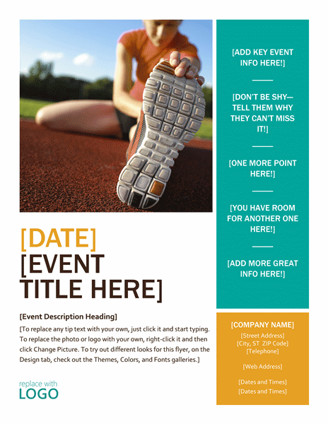 Seasonal Event Flyer (free Download)  Free Brochure Templates For Word To Download
