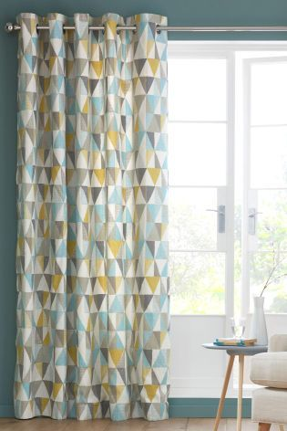 Buy Textured Geo Print Eyelet Curtains From The Next UK Online Shop Lounge CurtainsLiving Room