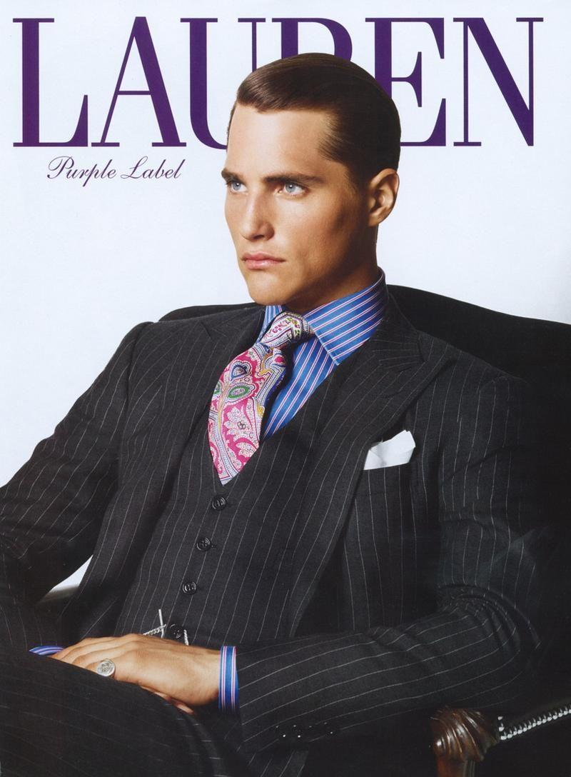 Ralph Lauren Purple Label Bespoke Suit...Razor sharp cut with some interesting colour to lift ...