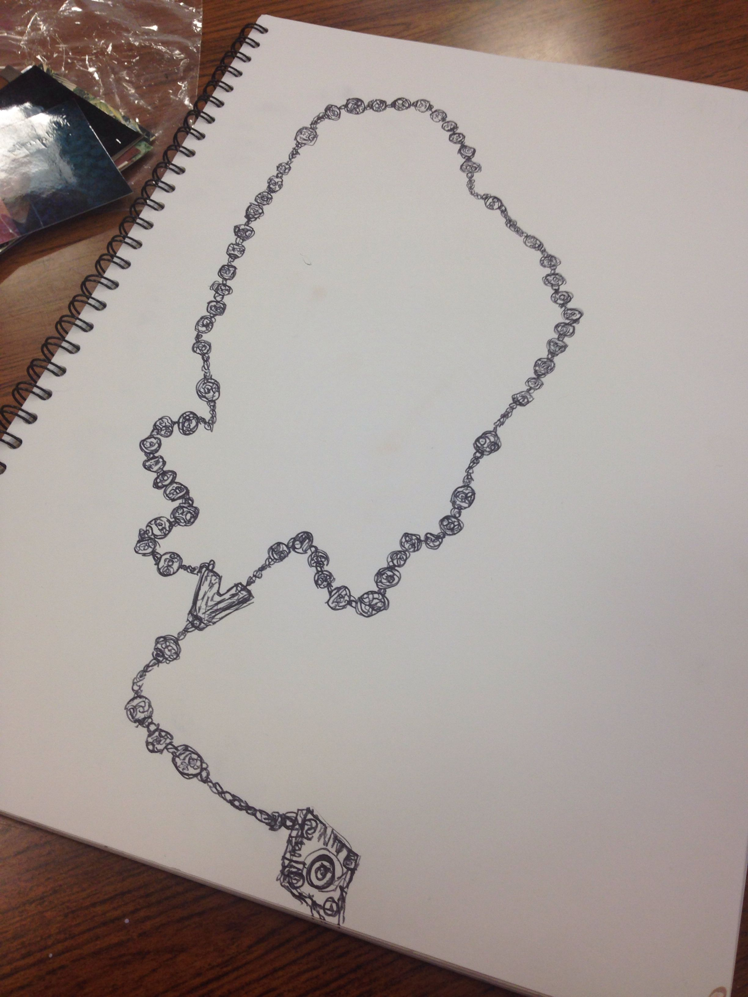 Rosary Bead Drawing I Did My Art Work
