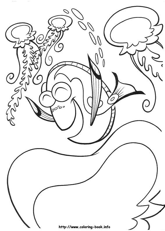 Finding Nemo coloring picture | Kids crafts | Pinterest | Nemo ...