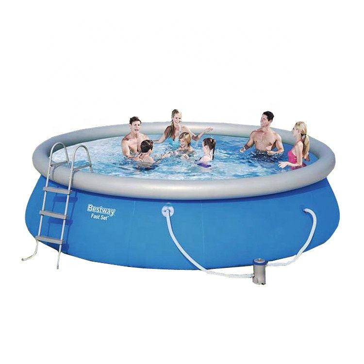 Outdoor Round Inflatable Swimming Pool For Kids Https M Alibaba Com Product 1600059611051 Outdoor Round Inflatable Inflatable Swimming Pool Bestway Kid Pool