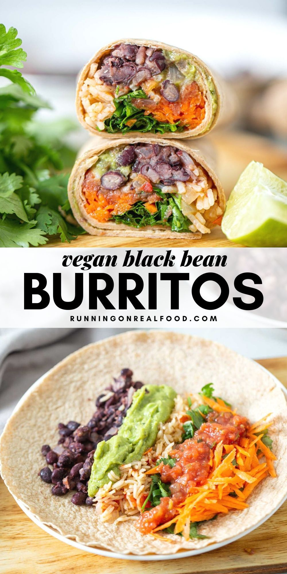 Photo of Vegan Black Bean and Rice Burritos