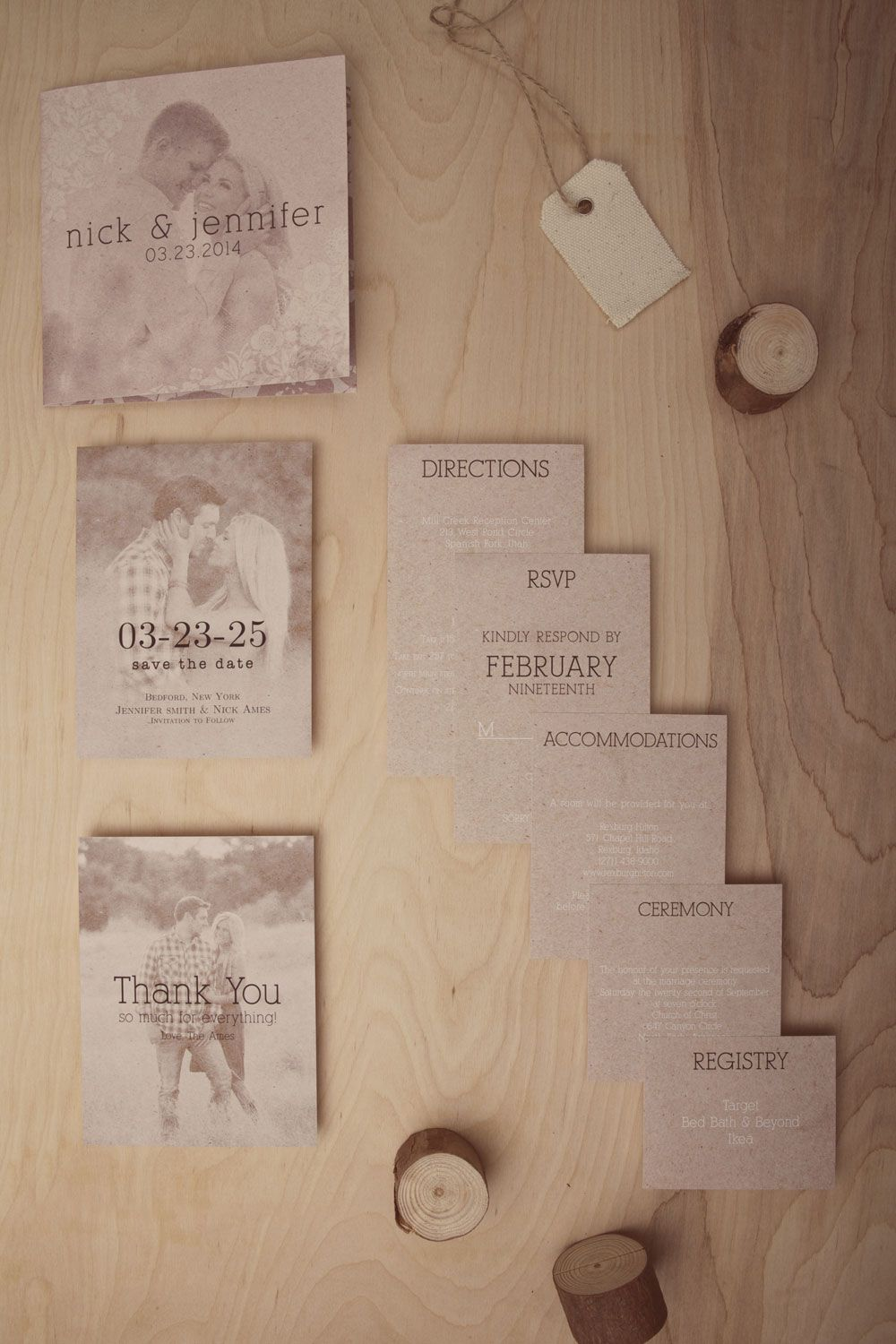 The Vintage Floral Craft wedding invitations with matching enclosure ...