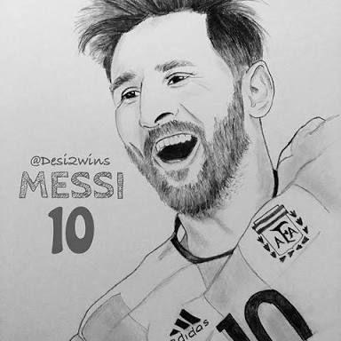 Resultado De Imagem Para Messi Face Sketch Lionel Messi Messi Leo Messi