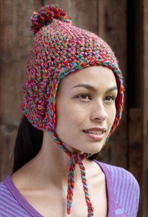 Flagstone Earflap Hat, free pattern | Crochet - Hats, Caps, Beanies ...